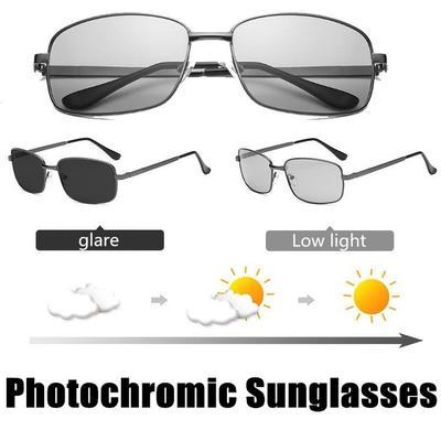 Night Sunglasses Polarized UV400 Photochromic Transition Lens Zinc Alloy Frame