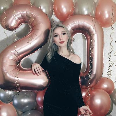 40inch Number Foil Balloons Digit Helium Balloons Birthday Balloons Birthday Decorations Baby Shower