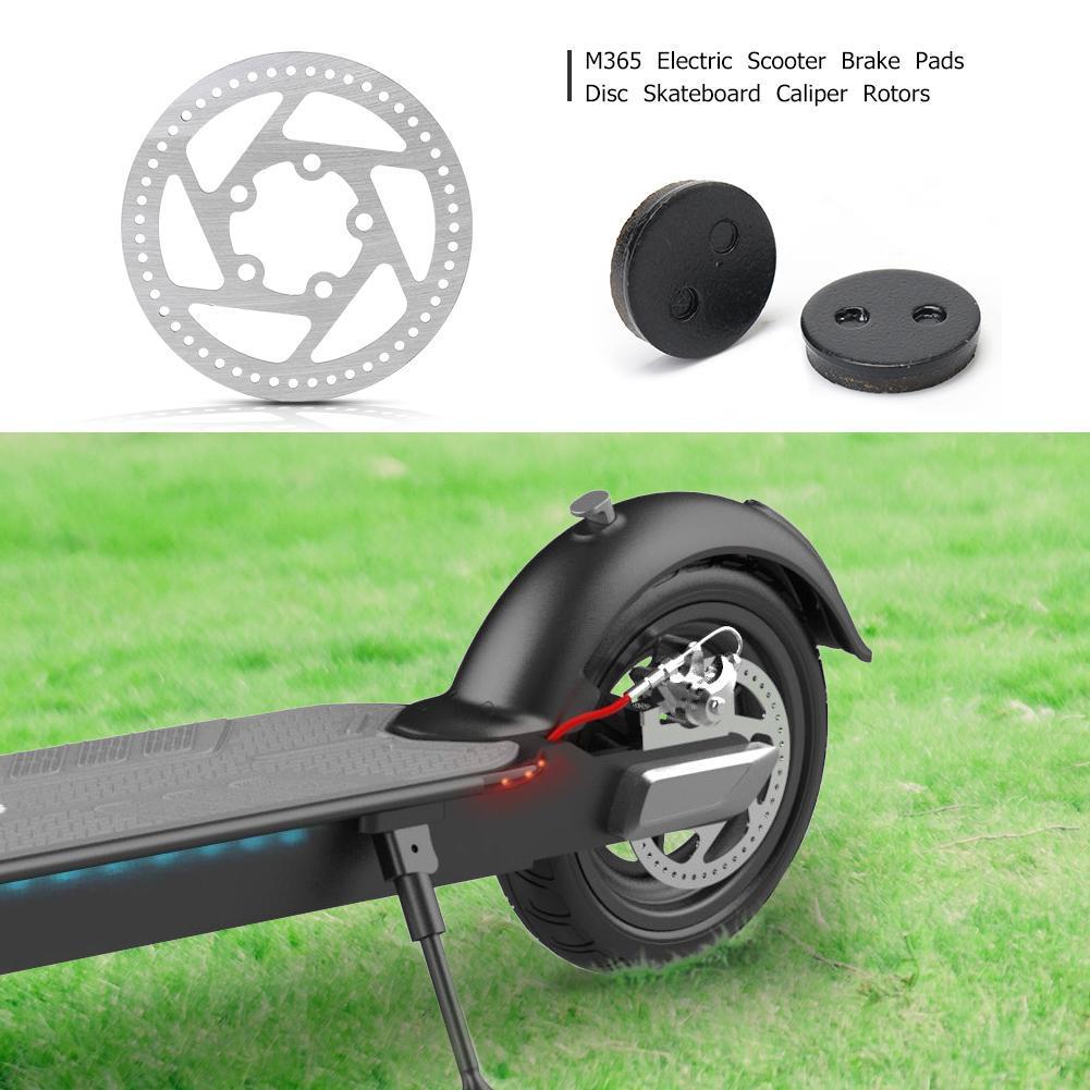 L/&6 M365 Electric Scooter Brake Pads Disc Skateboard Caliper Rotors Black