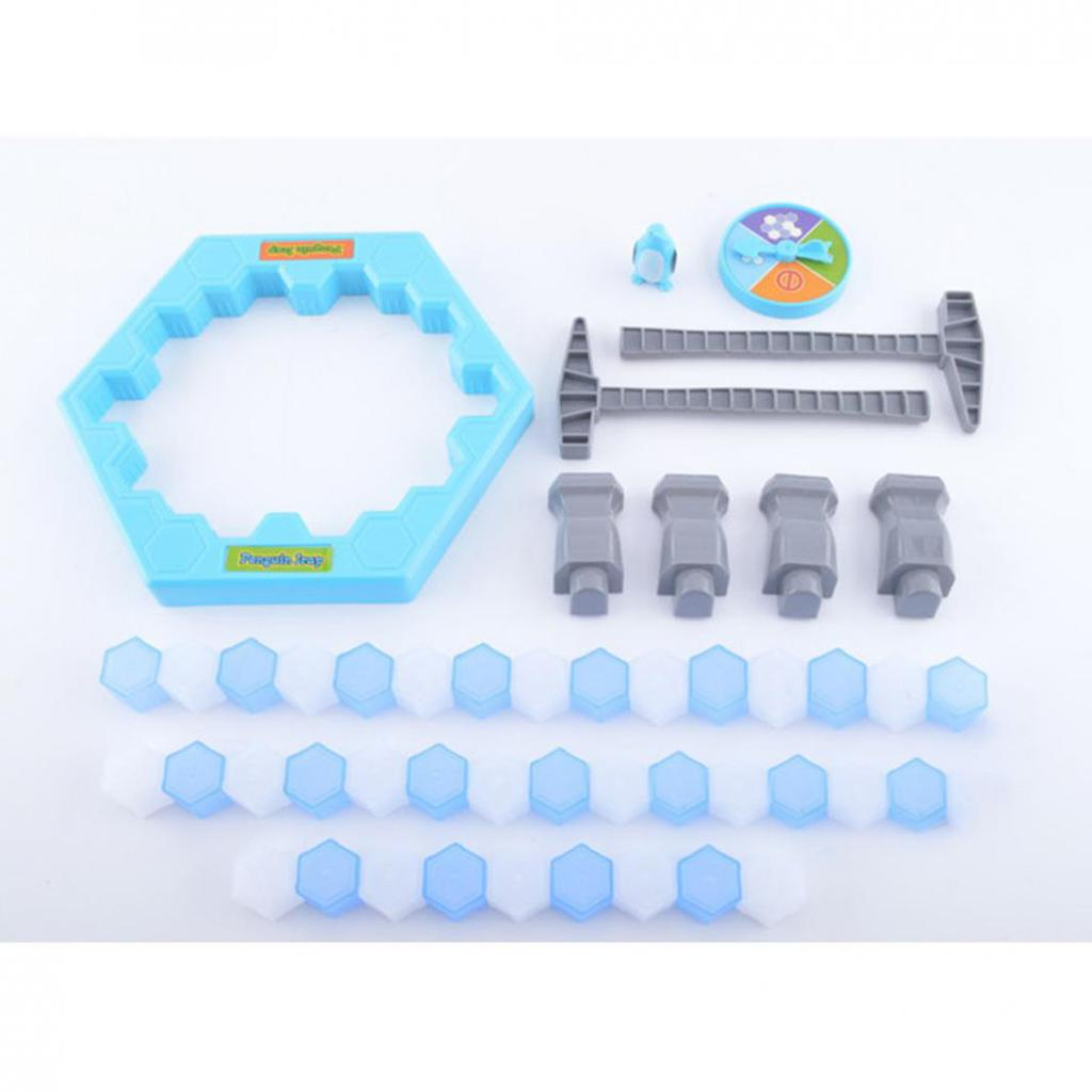 Creative Save Penguin Trap Parents Kids Game Ice Breaking Building Blocks Toy