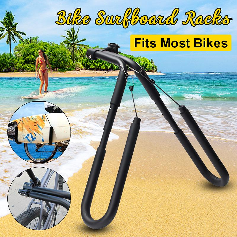 Bicycle Mount Surfboard  Wakeboard Rack BoogeyBoard Carrier Move By Bike Surfing