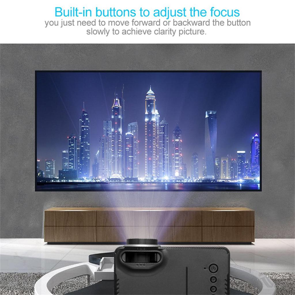 Beauty Home Use HD 20P LED Portable Projector Multimedia Home ...