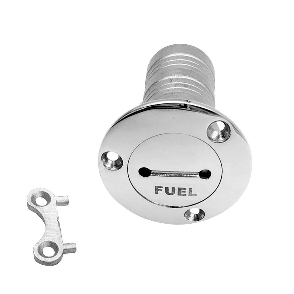 2 Stainless Steel Boat Marine Deck Fill Filler Cap Keyless Gas Fuel Tank