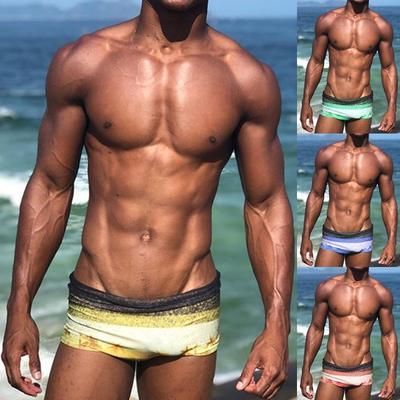 Mens Underwear Gradient Color Skull Boys Boxer Brief