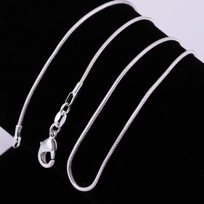 15b081b7aa15 Gifs de collar de la cadena de moda plana serpiente - comprar a ...