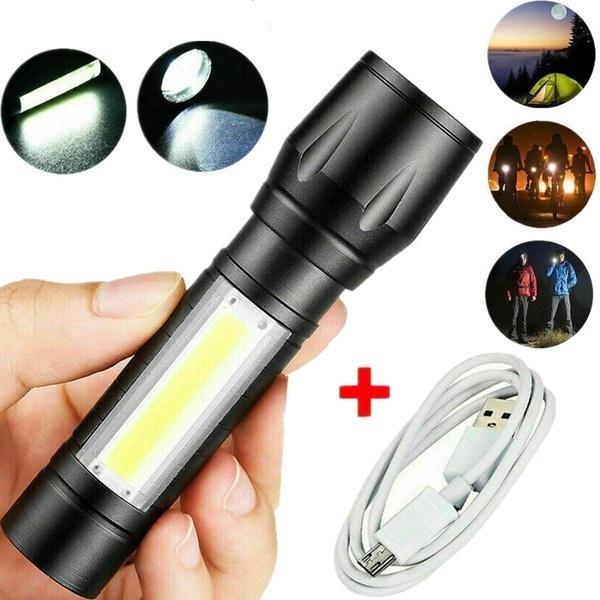 Портативный T6 COB светодиодные тактические USB Перезаряжаемые Увеличить фонарик Факел лампы – купить по низким ценам в интернет-магазине Joom