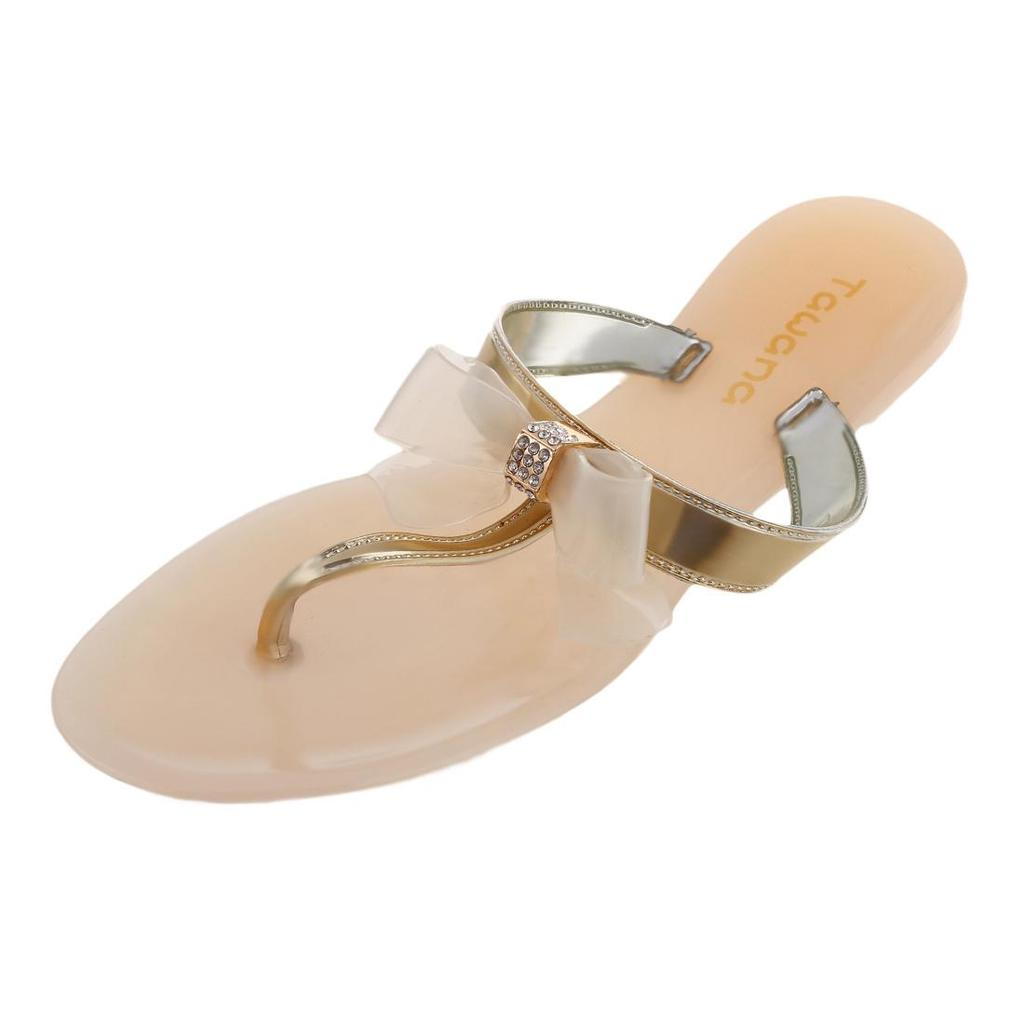 24f7c6407e88 TAWANA Womens Ladies Toe Bow Diamante Jelly Summer Flat Flip Flop Thong  Sandals-buy at a low prices on Joom e-commerce platform