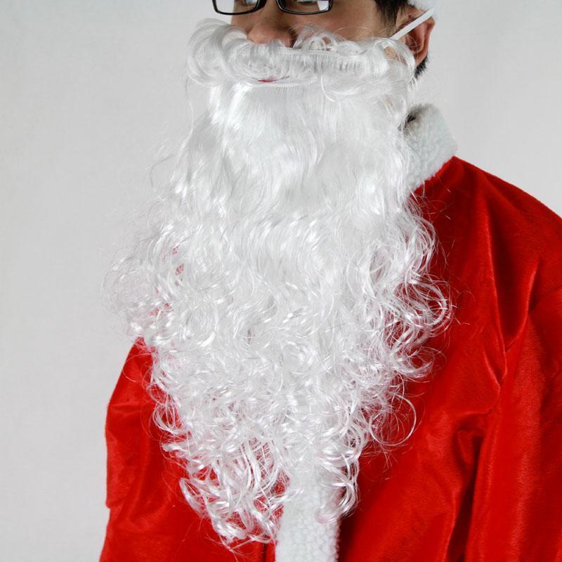 40厘米长圣诞老人胡子时尚圣诞Xmas花式服装服装1PCS