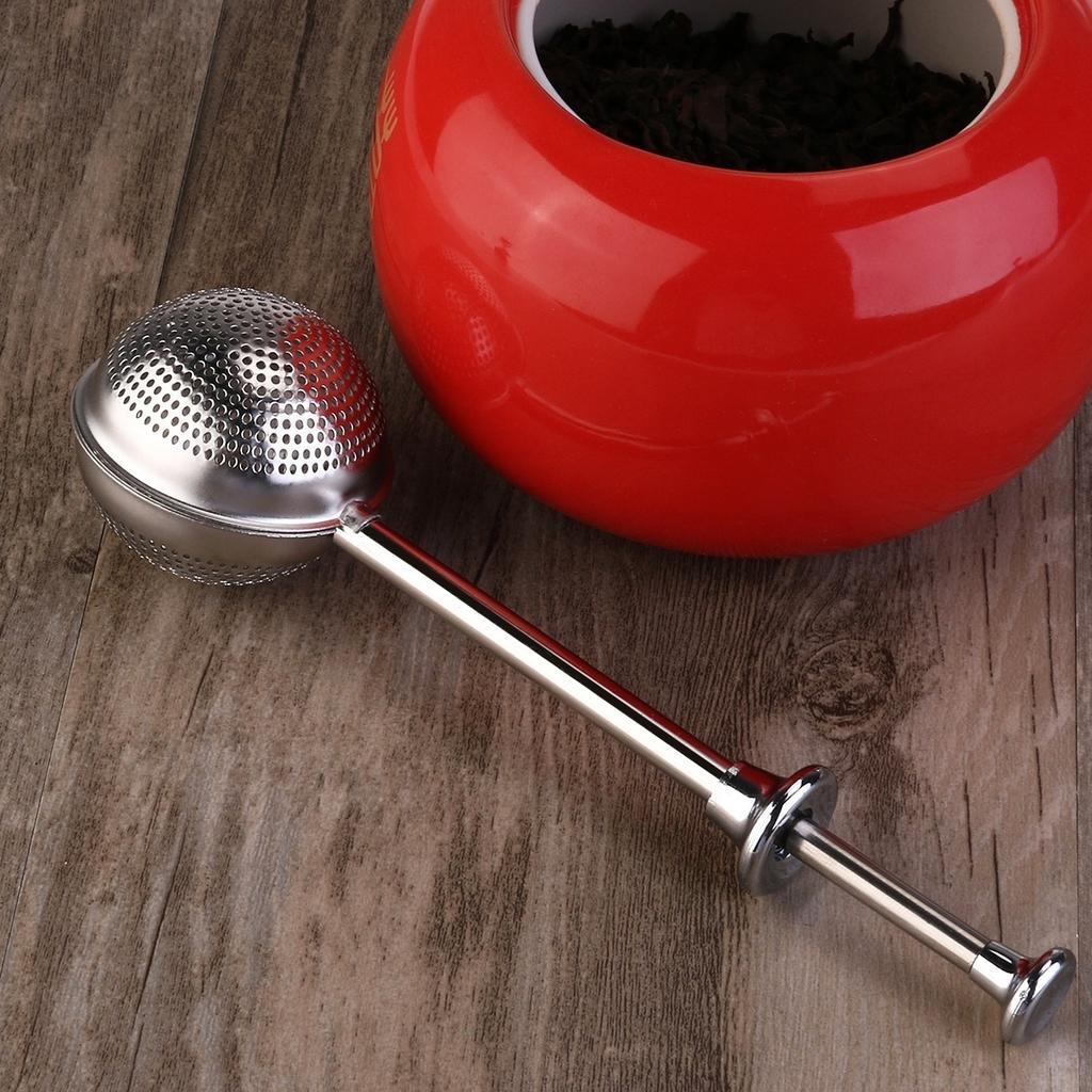 针筒304不锈钢茶隔 可伸缩泡茶过滤器茶叶夹茶漏 调味球 创意茶具