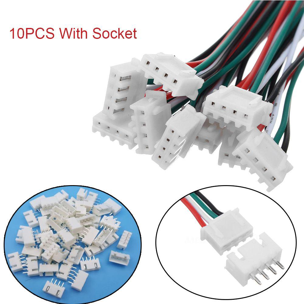10pcs XH Pitch 2.54mm Single Head 3Pin Wire To Board Connector 15cm 24AWG With