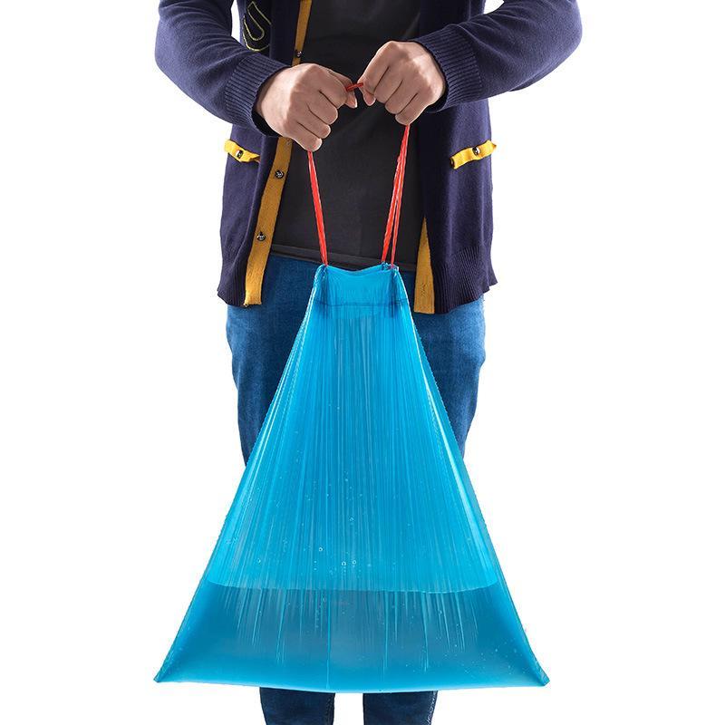 15pcs Drawstring Мусор мешок Портативный Автоматическое Закрытие Thicken Пластиковые корзины Мусорная сумка – купить по низким ценам в интернет-магазине Joom
