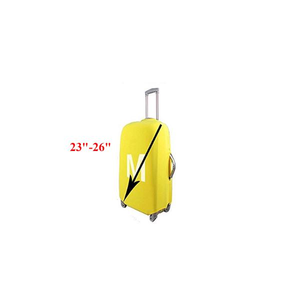 Geometry Pattern Travel Luggage Cover Stretchable Polyester Suitcase Protector Fits 18-20 Inches Luggage