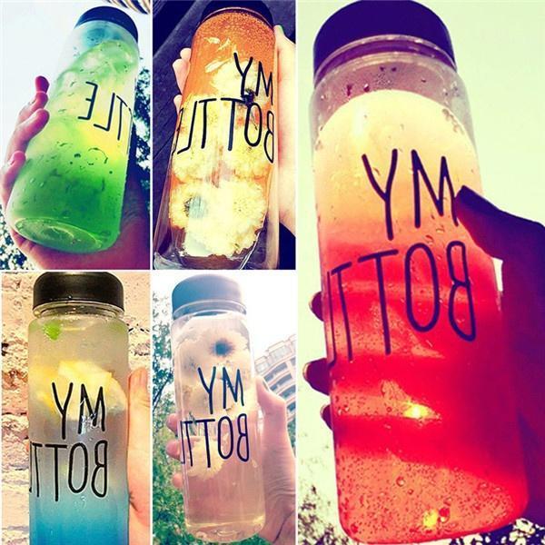 Фото - Популярные моя бутылка 500 мл пластиковая бутылка воды спорта лимонный сок фруктов выпивать бутылку прозрачный выпивать и закусывать