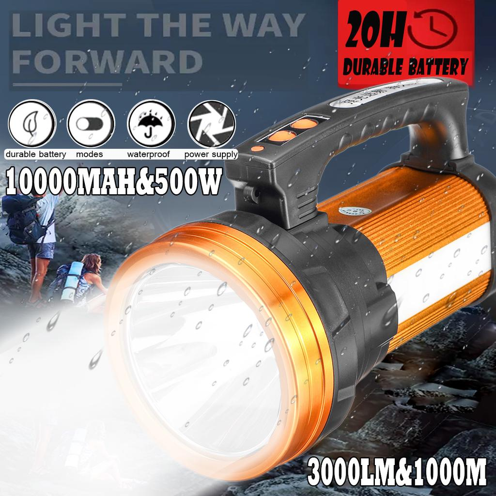 LED Flashlight with Magnet 2-in-1 front and side lamp up to 150lm
