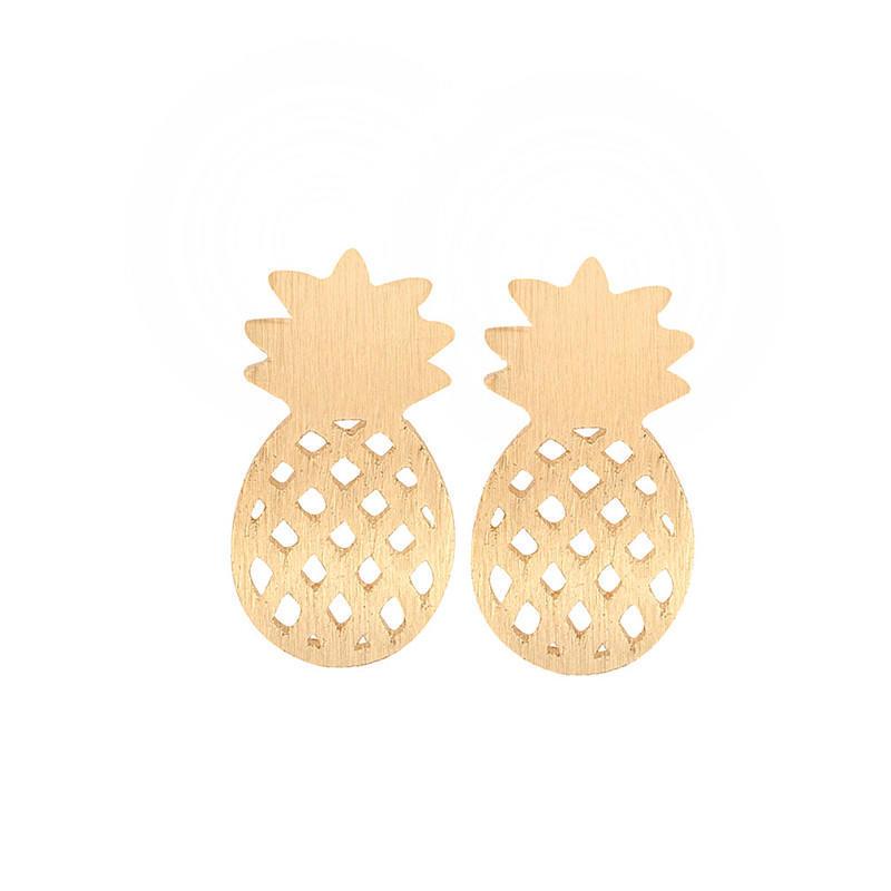3bbd28716b1c53 3 colors Cute Hollow Pineapple Ear Studs Girls Earrings Jewelry Accessories