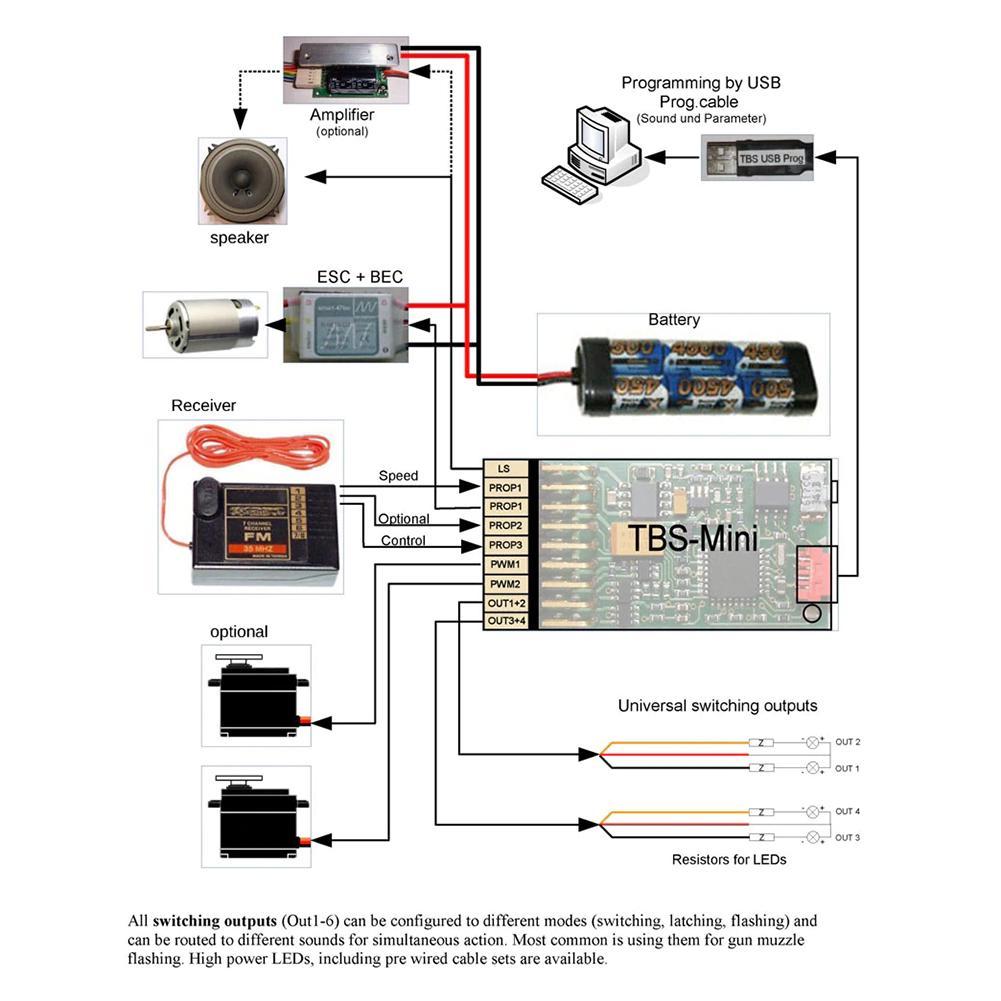 Mini DasMikro TBS Programmable Engine Sound Unit And Light Control Soundmodule
