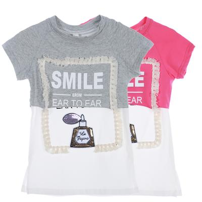 Bisexual Flag Heart Kids Cotton T-Shirt Basic Soft Short Sleeve Tee Tops for Baby Boys Girls