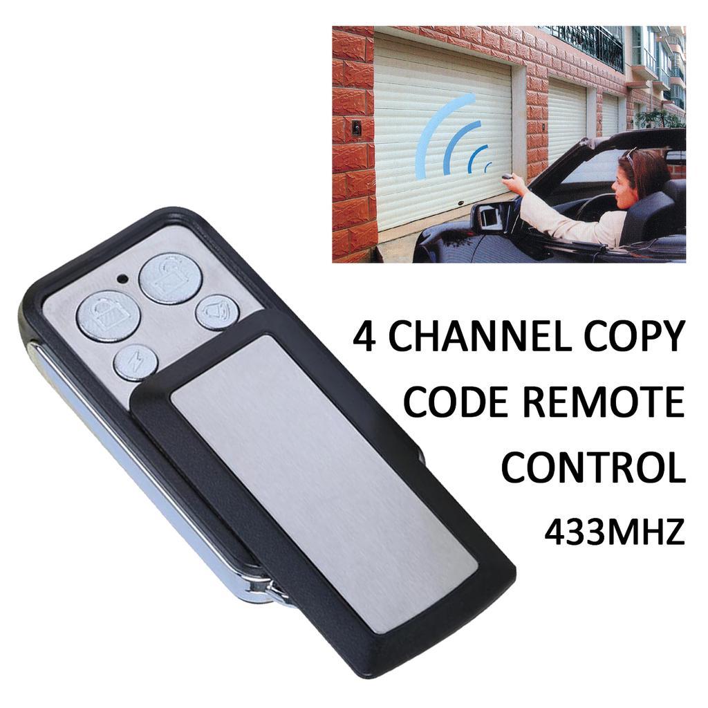 433MHz 4 Channel Wireless Remote Control Duplicator Electric Gate Key Fob *DC