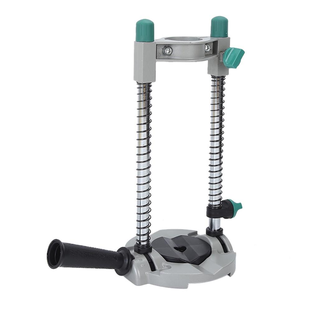 Adjustable Angle Electric Drill Holder Guide Stand Positioning Bracket Aluminum