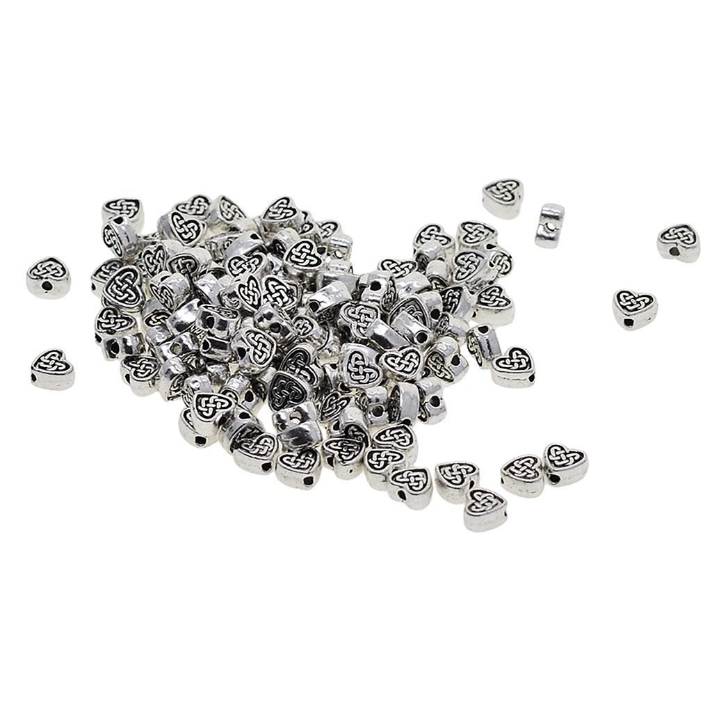 15Pcs Tibetan Silver Round Ball Spacer Beads Charms 7.5mm