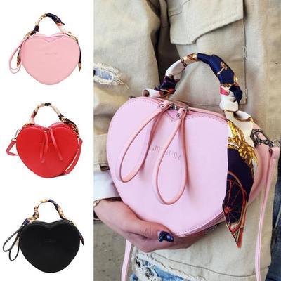 d4312d2592524 Sprzedaż Torebki Heart Torebki damskie Szalik torebki Torba na ramię  Projekt PU Crossbody Fashion Bag kolory