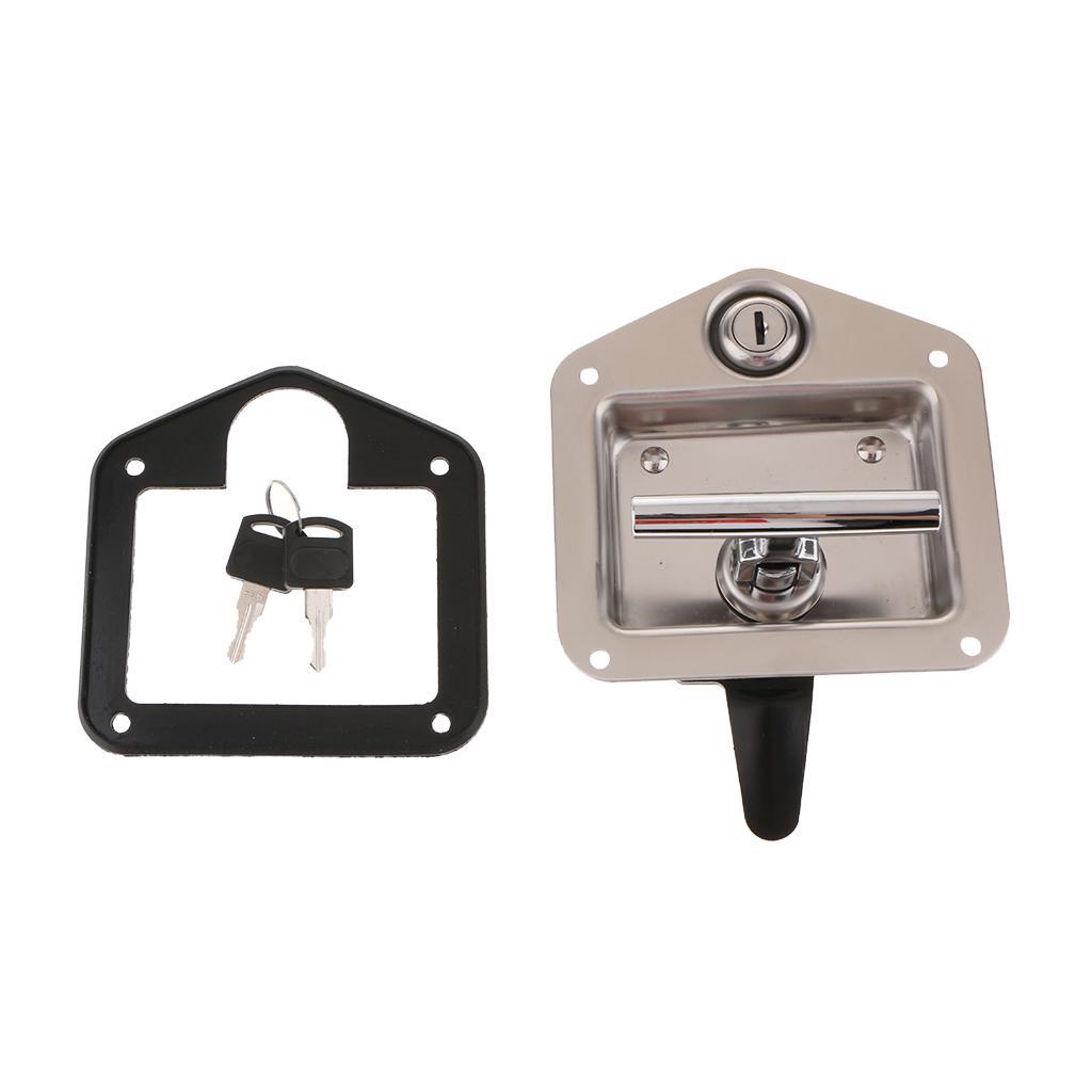 RV//Camper//Cargo Trailer Cam Lock Padlock Hasp Latch Zinc