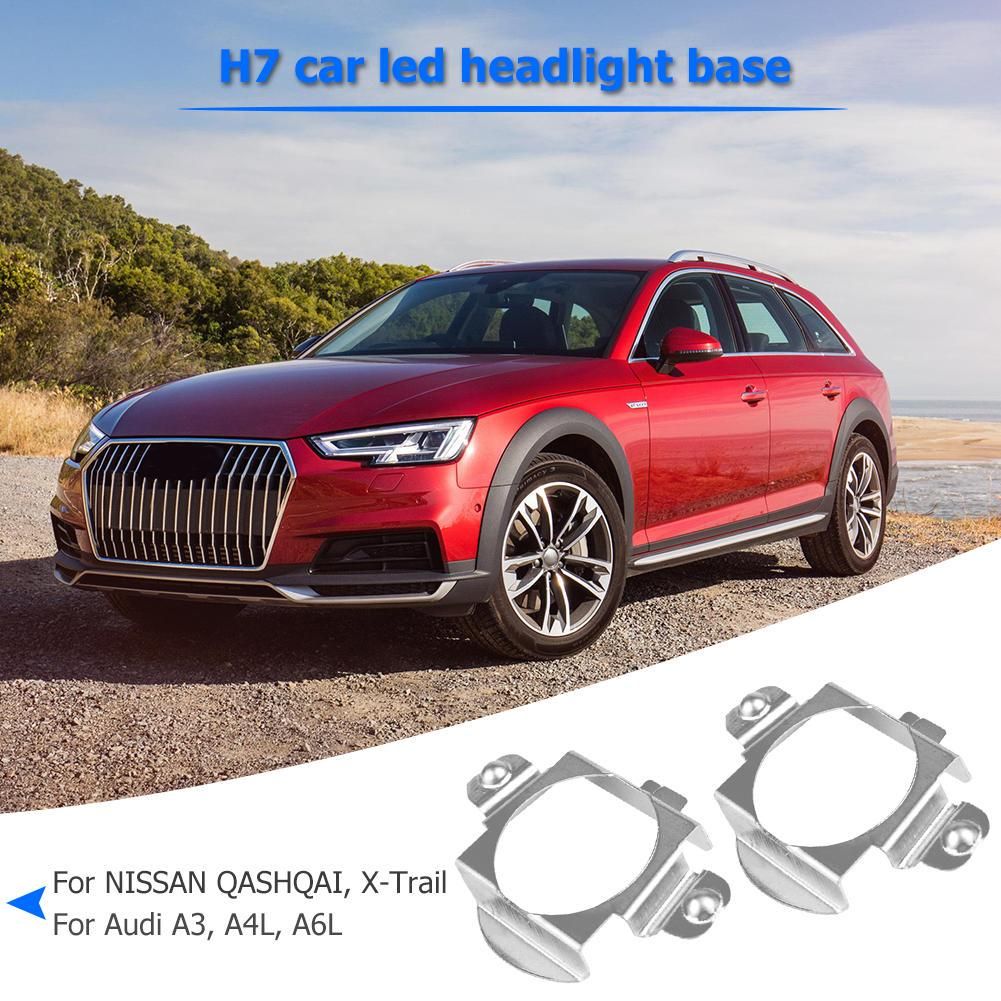 1 Pair H7 LED Headlight Adapter Retainer Holder for BMW Mercedes Benz Audi Buick Nissan Headlight Adapter