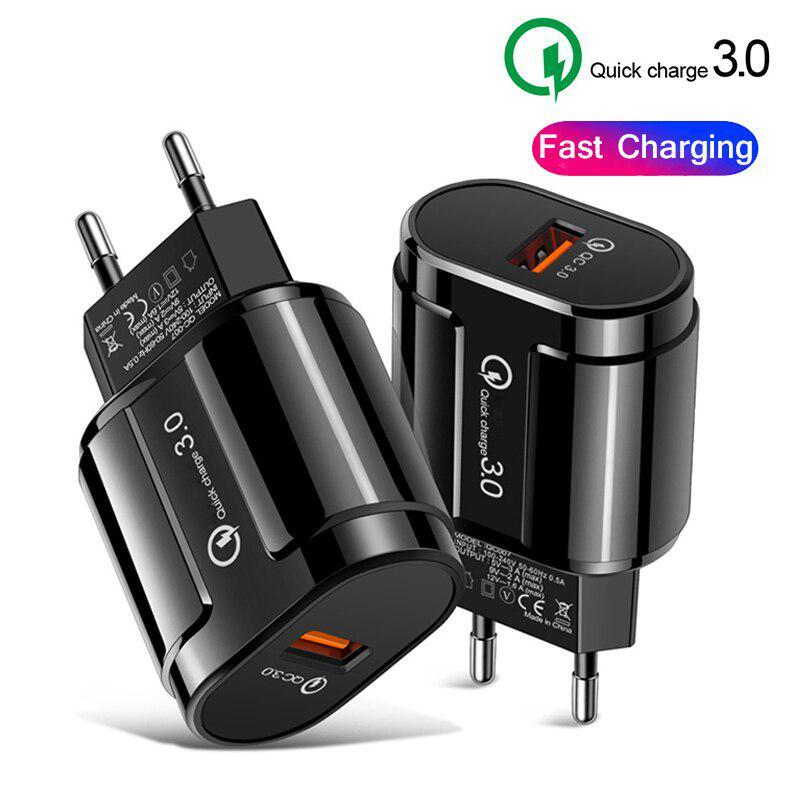 5V 3A Быстрая зарядка 3.0 USB Зарядное устройство настенное устройство qc3.0 КК 4.0 Быстрая зарядка мобильного телефона зарядное устройство