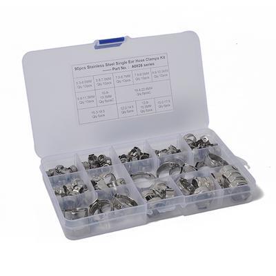 42PCS Colliers de serrage tuyau à oreille simple pour plomberie automobile