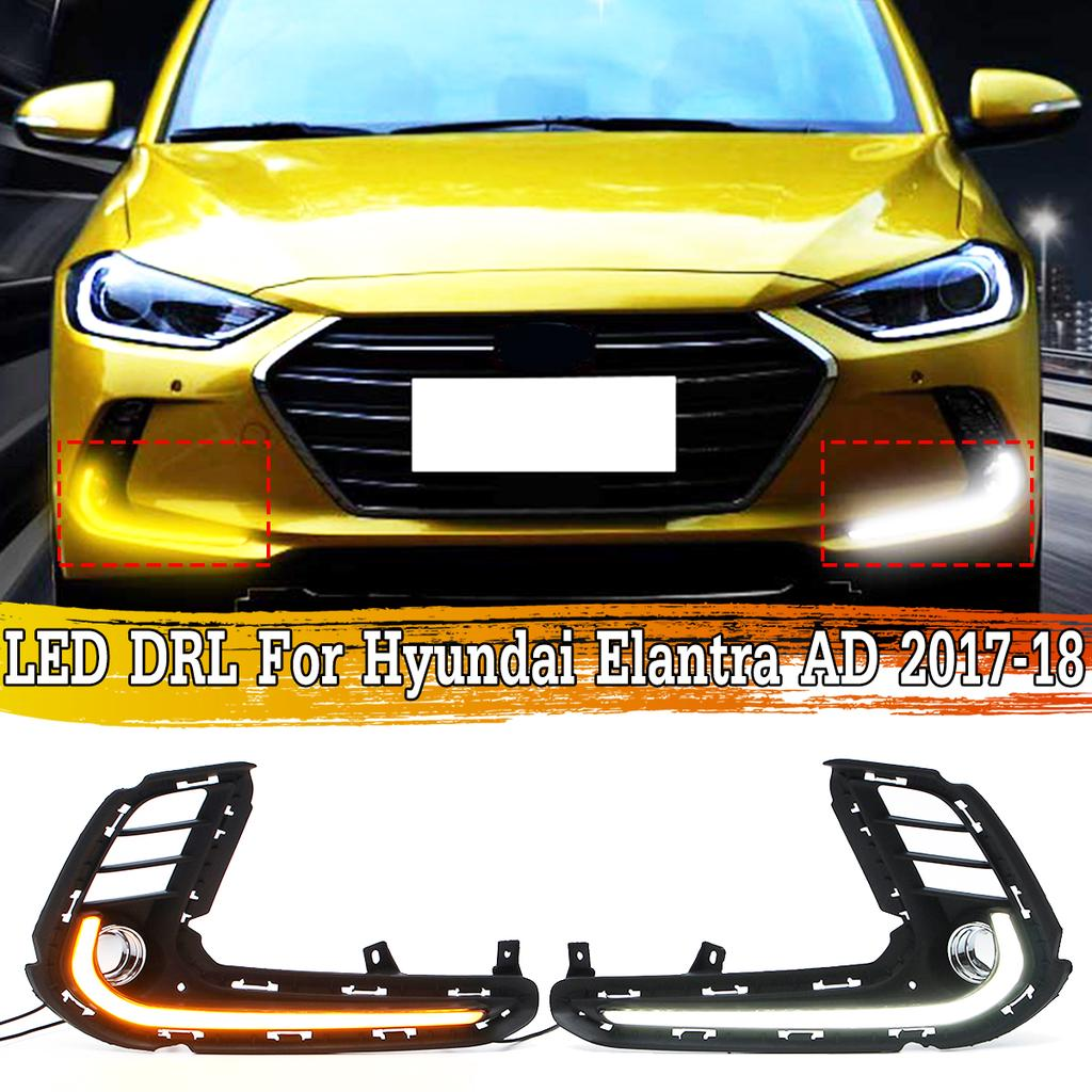 Led Drl Daytime Running Fog Light Turn Signal For Hyundai Elantra Ad 2017 2018 Buy At A Low Prices On Joom E Commerce Platform