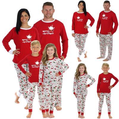 XMAS Family Matching Pajamas Set Santa Adult Kids Sleepwear Nightwear  Pyjamas UK 3df5a22a5