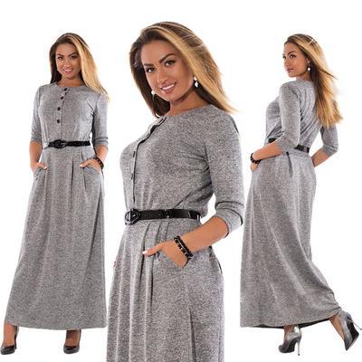 8244176ee1f Элегантный высокой талией платье моды сплошной цвет случайные длинная юбка  платья плюс размер женщин