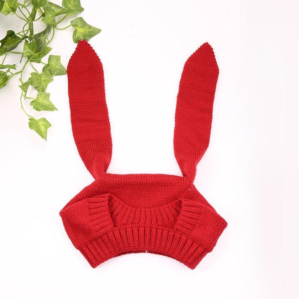 Fsion Hycer lindo invierno niño niño niña conejo Crochet oído gorro ...