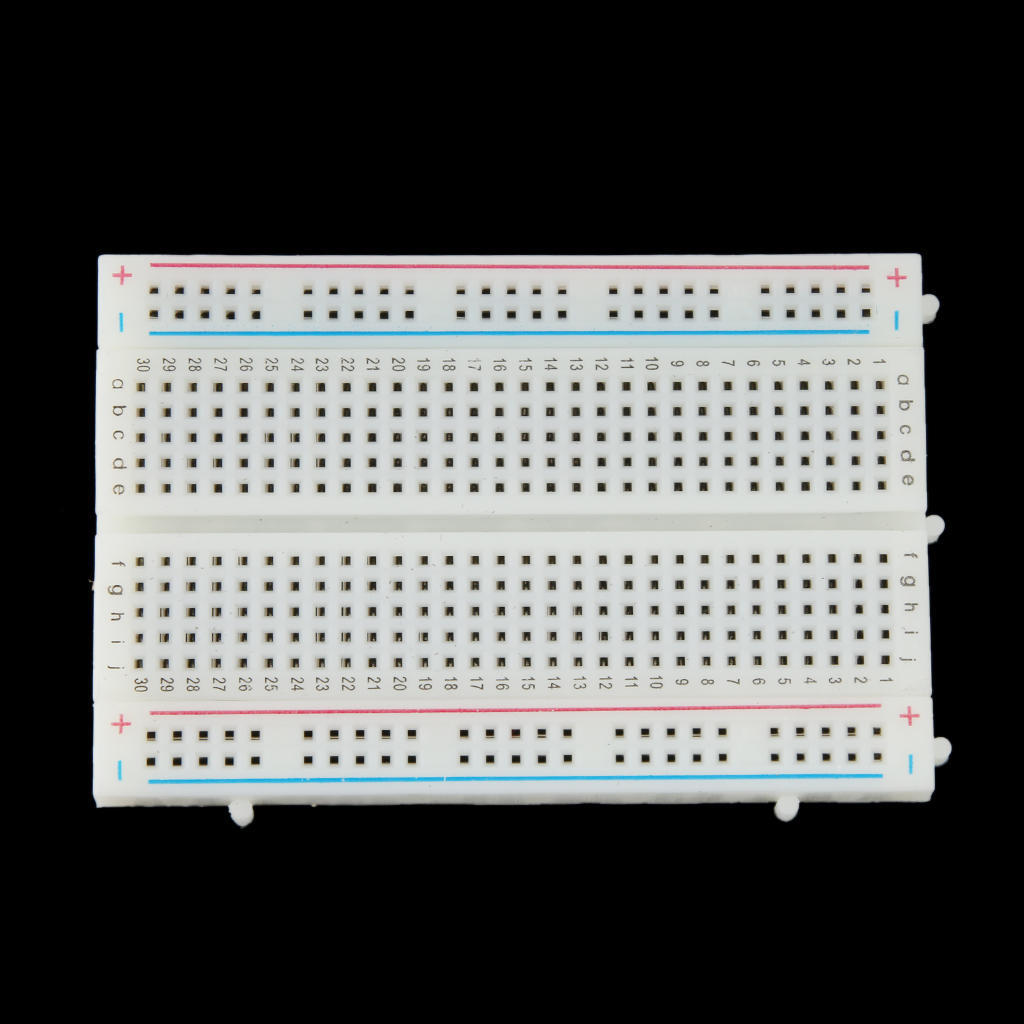 Universal Solderless Breadboard 400 Contacts Tie Points Available Cf Transparent Showing The Metal Strips For 1 Of 5