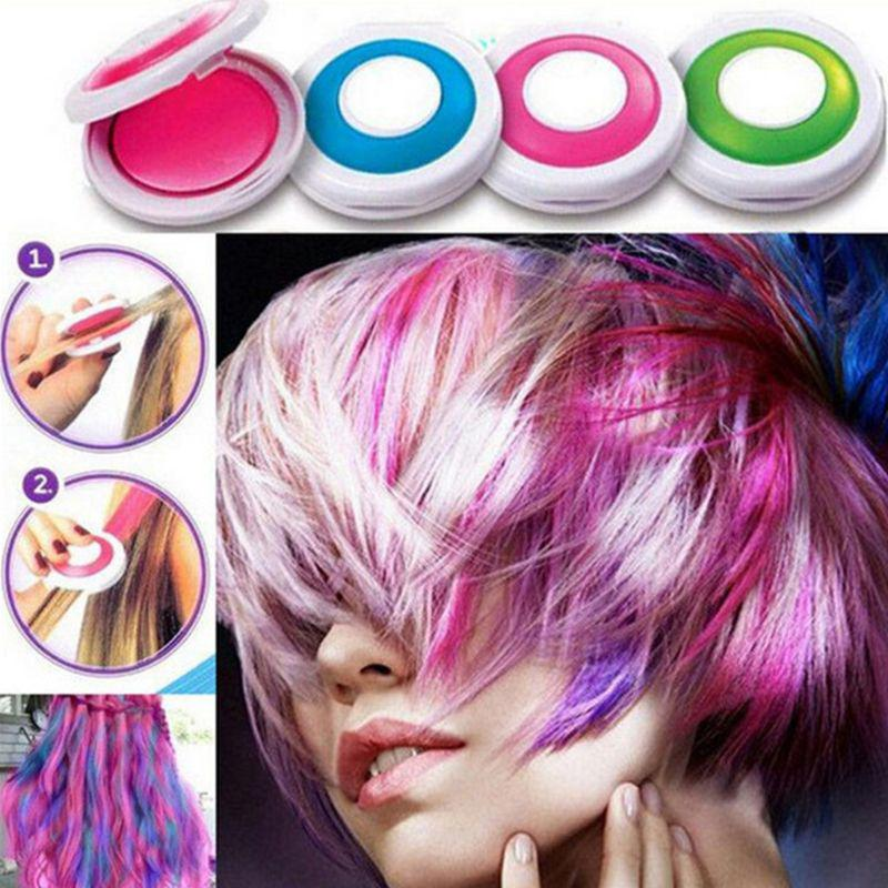 4 Colors Bright Temporary Hair Dye Powder Cake Washable DIY Coloring Cream  Chalk Set for Adult Kids Festival Party Accessories - buy from 5$ on Joom  e-commerce platform