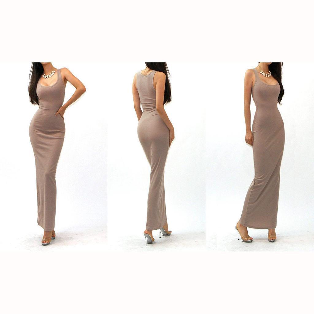 Fashion Sexy Women Sleeveless Bodycon Long Party Evening Dress Slim Eozy Luxury Lace Maxi European Style 2 Of 10