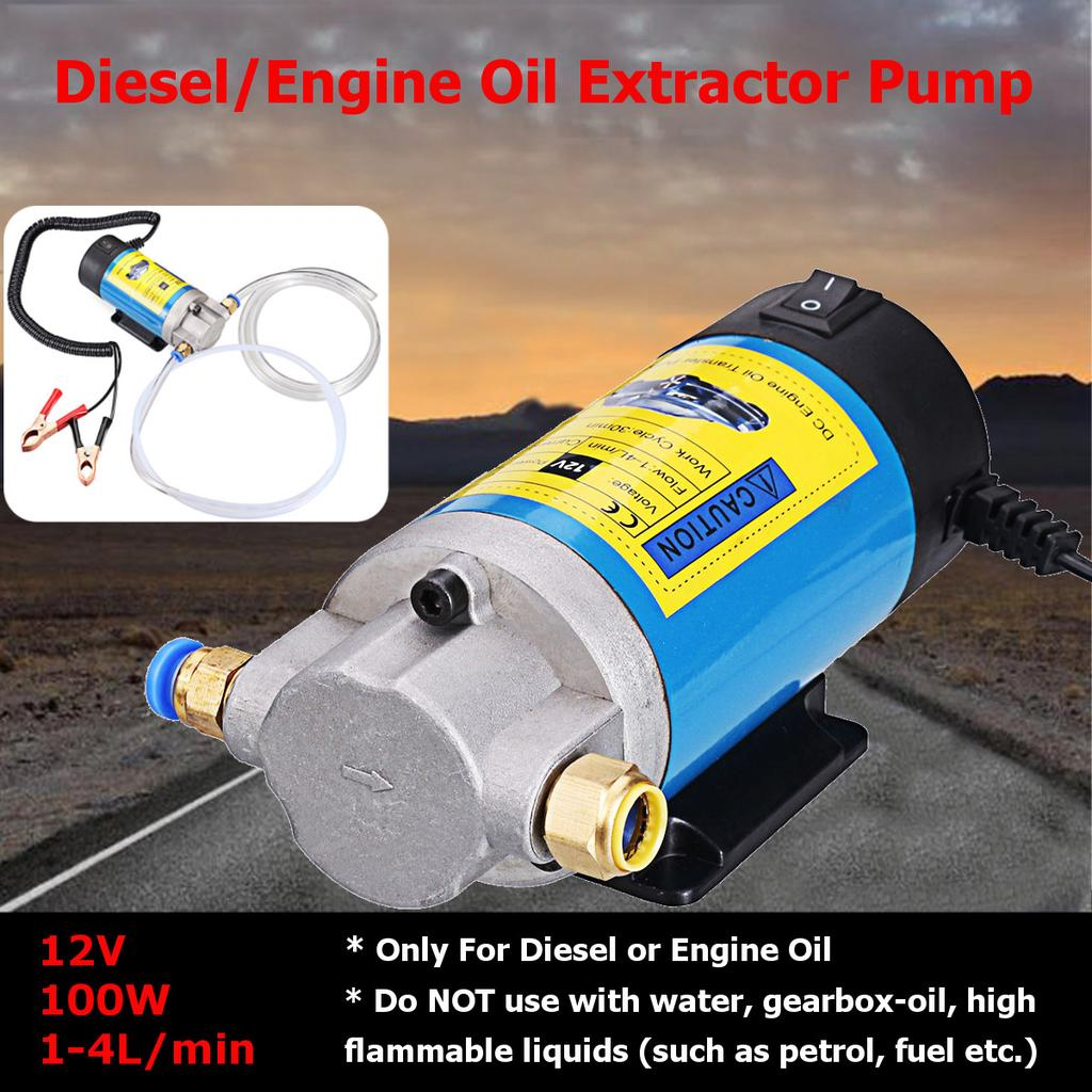 12V Suction Transfer Extractor Motor Oil Scavenge Pump only used on Oil//Diesel