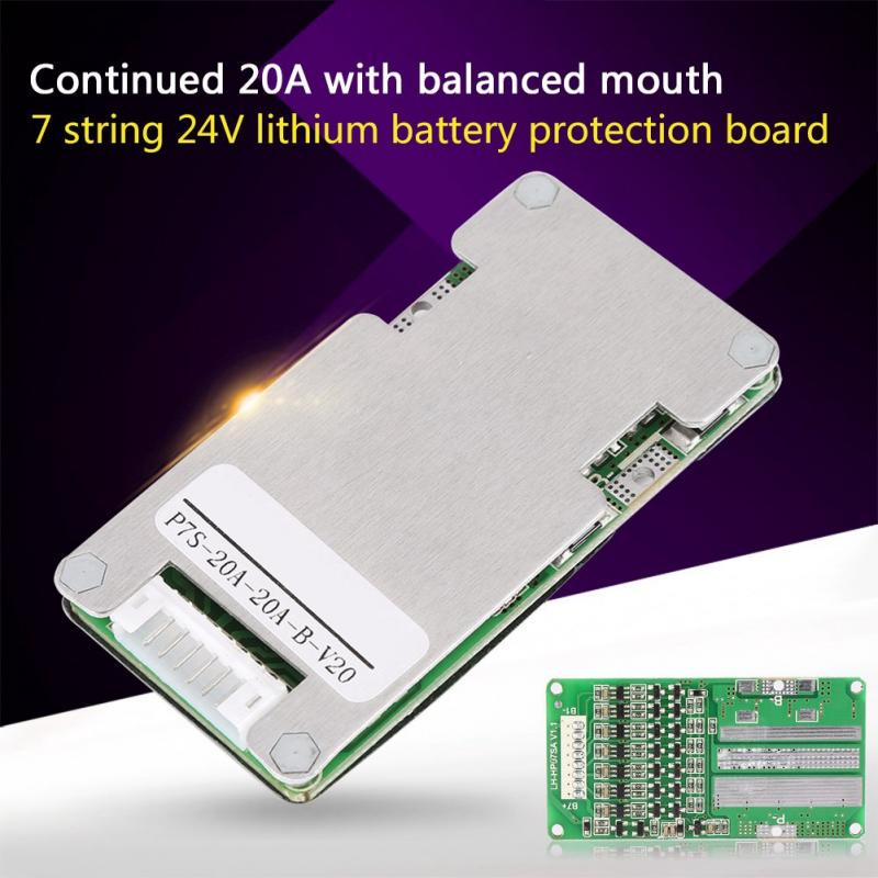 7S Cells 4.2V 20A W//Balancing Li-ion Lithium Battery 18650 PCB Protection Board