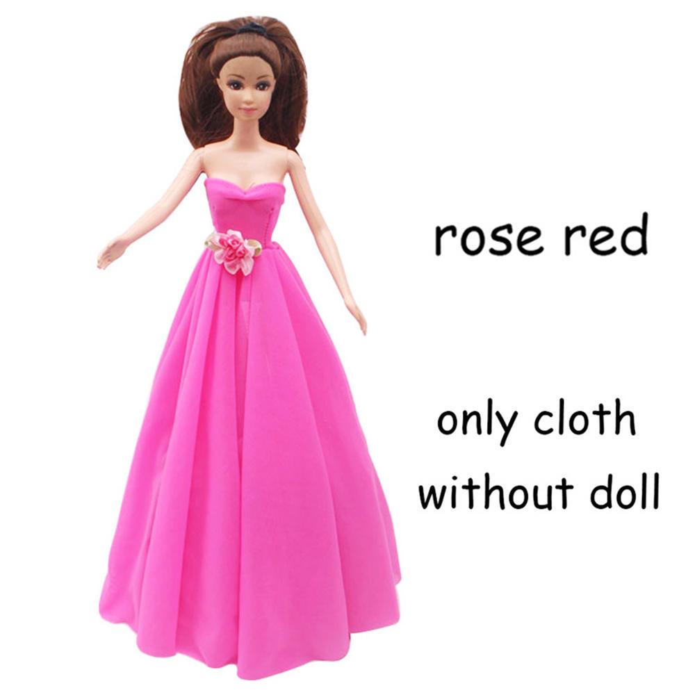 Niñas vestido largo cola juguete accesorio de regalo Vestido de ...