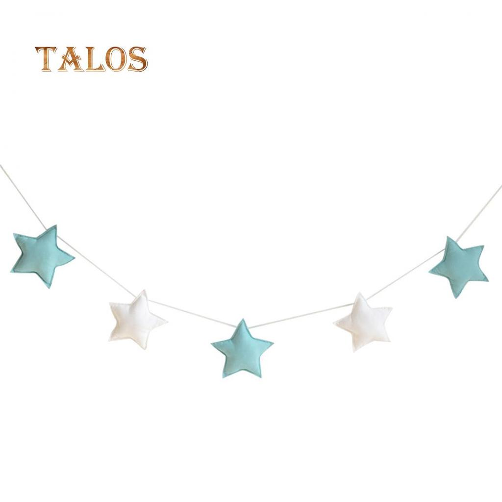AM/_ NORDIC 5X STARS HANGING ORNAMENTS BANNER BUNTING PARTY KID BED ROOM DECOR ST