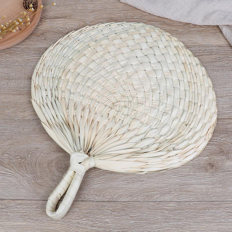 Grey Feather Hand Fan antique style traditional Chinese fan large hand fan