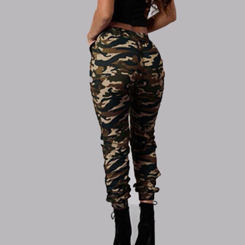 Жінки армії Camo брюки вантажів Маскувальні відкритий випадковий ... 7e23c22b301d9