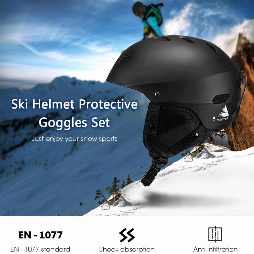 Vector Adjustable Protective Outdoor Skateboard Skating Snow Sports Ski Helmet