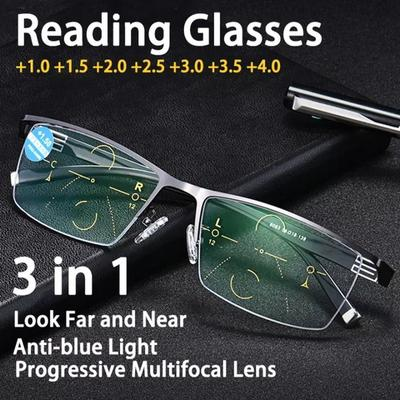 Adjustable Vision Bifocal Transition Photochromic Progressive Reading Glasses Multifocal Eyeglasses