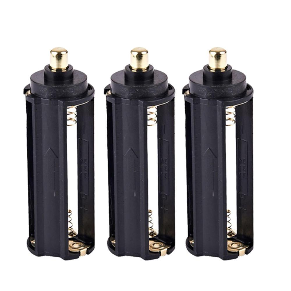Batteriehalter AAA Halterung Zubehör Wandern Taschenlampe 3 Stück Koffer