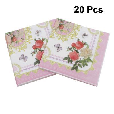 4 x Single Paper Table Napkin//Decoupage//Craft//Flowers//Butterflies//Camellia