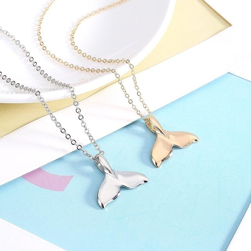 Valentine/'s Day dolphin whale tail Christmas Low budget  Silver necklace pendant Mother/'s Day ethnic  Woman gift idea