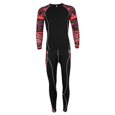 Men s Long Sleeve Compression Sports Top TShirts and Pants M Black Red b81d20440