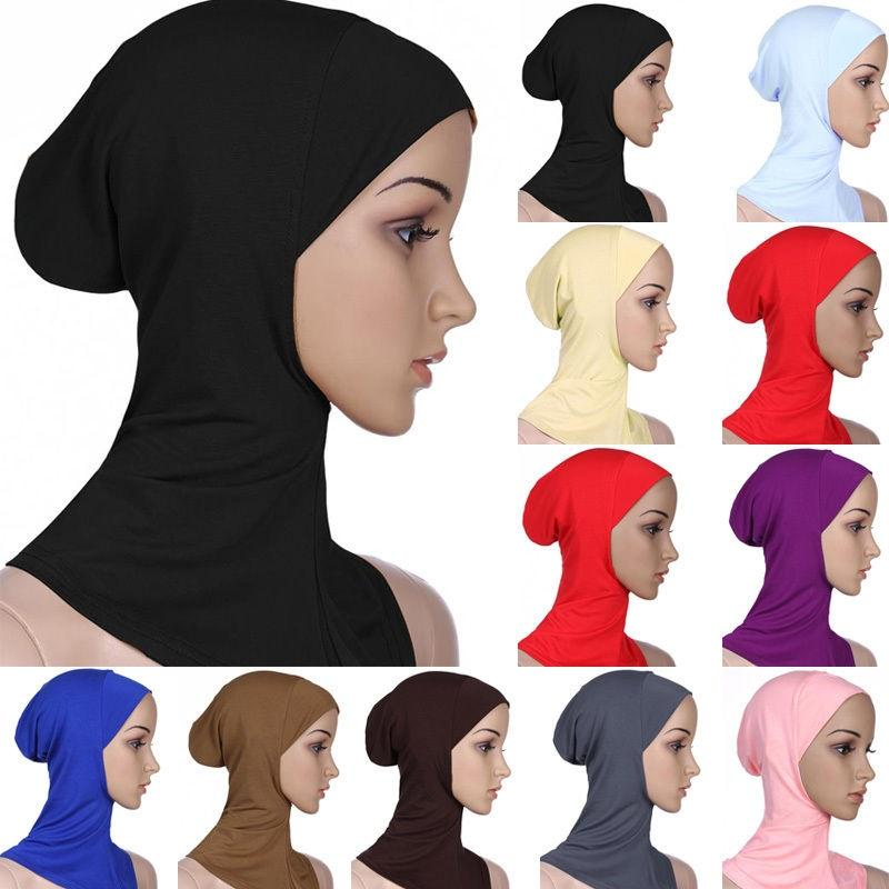 Femmes Sous Écharpe Cap os Bonnet Ninja Hijab Islamique Cou Housse musulman Soft Hat