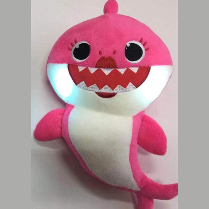 Baby Shark Plush Singing Toys LED Music Doll English Song Toy Kids New Year gift